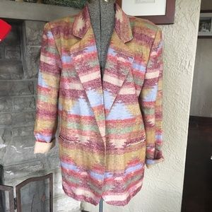 Southwestern Patterned Blazer Vintage Blazer